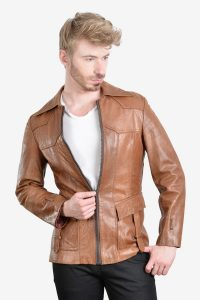 Vintage hipster leather jacket