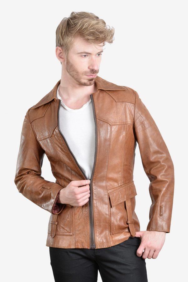 Vintage hipster leather jacket