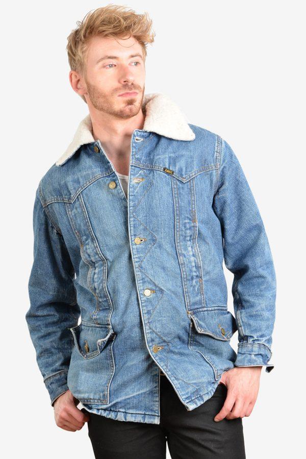Vintage Lee Storm Rider sherpa wrange coat
