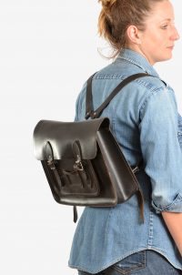 Vintage leather satchel rucksack