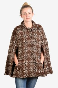 Vintage Welsh Woollens tapestry cape