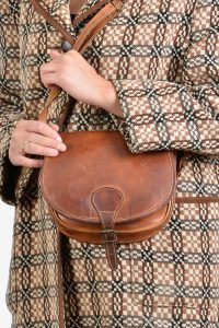 Vintage leather saddle bag