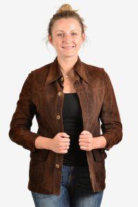 Vintage Harrods suede jacket