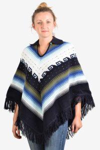Vintage aztec poncho