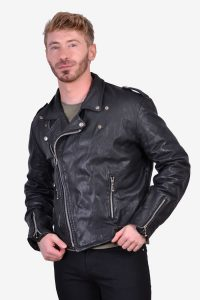 Vintage 1980's leather biker jacket
