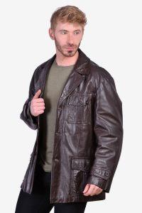 Vintage leather safari leather jacket
