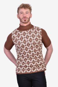 Vintage turtleneck mod t shirt