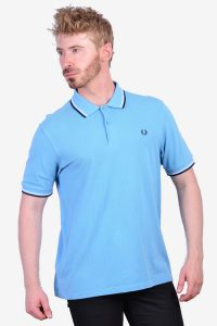 Vintage Fred Perry light blue polo shirt