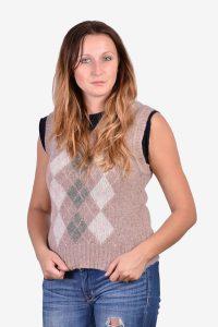 Women's vintage wool tank top