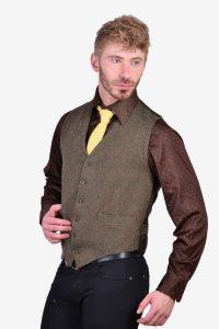 Vintage tailored tweed waistcoat