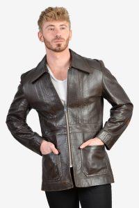 Retro 1970's leather jacket