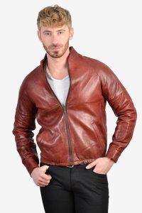 Vintage leather cafe racer jacket