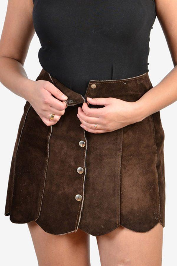 Vintage 1970's suede mini skirt
