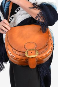 Vintage 1970's leather handbag