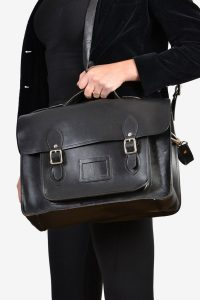 Vintage leather black satchel