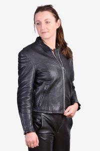 Vintage women's leather biker jacket
