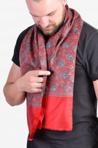 Vintage men's silk scarf