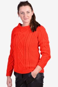 Vintage Aran red jumper