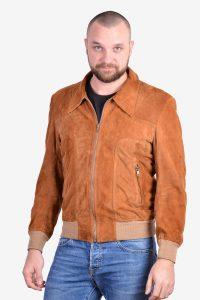Vintage 1970's suede bomber jacket