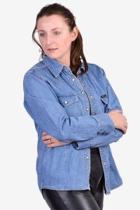 Vintage women's Lee denim shirt