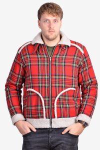 Vintage tartan sherpa jacket