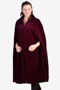 Vintage velvet cape