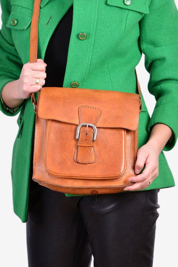 Vintage 1970's leather shoulder bag