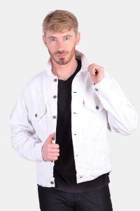 Vintage Levi's 70506 white denim jacket