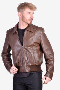 Retro vintage leather jacket