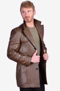 Vintage men's 1970's leather jacket
