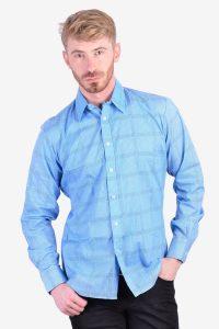 Men's 1970's blue shirt
