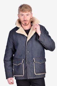 Vintage 1970's sherpa denim jacket