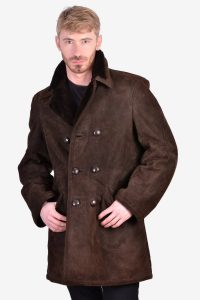 Vintage 1970's sheepskin suede coat