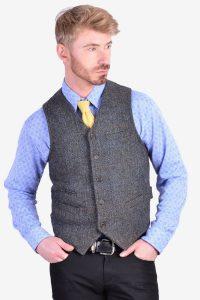 Vintage Harris Tweed waistcoat