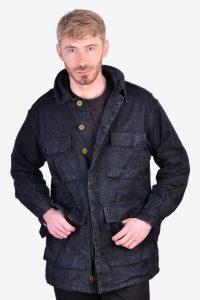 Vintage black military jacket