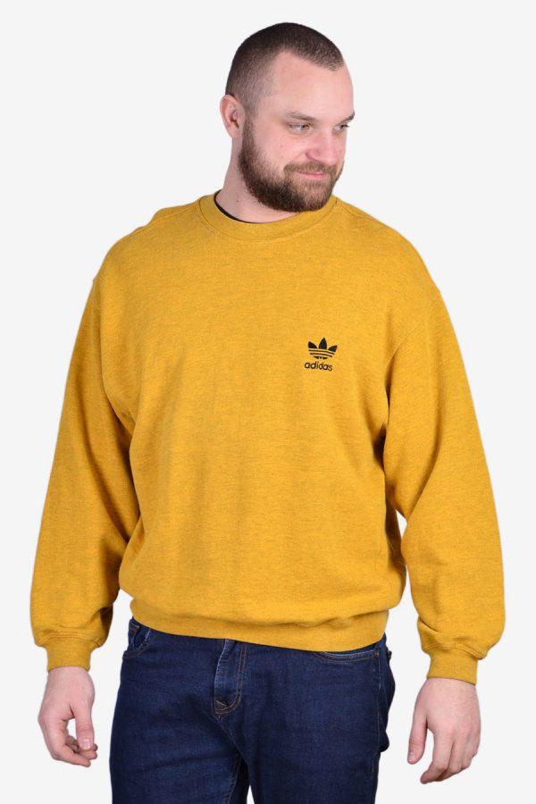 Vintage Adidas yellow sweatshirt