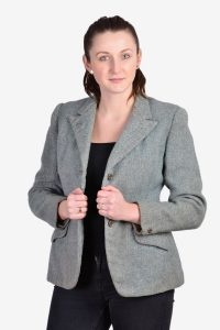Vintage women's herringbone tweed jacket