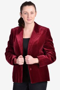 Vintage burgundy velvet jacket
