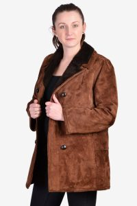 Women's vintage suede coat