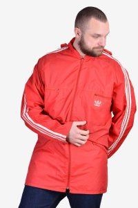 Vintage Adidas red windbreaker jacket