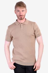 Vintage 1960's waffle knit polo shirt
