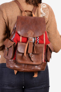 Leather Aztec rucksack