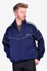 Vintage Adidas navy blue track jacket