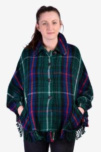 Vintage tartan cape