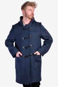 Vintage blue duffle coat