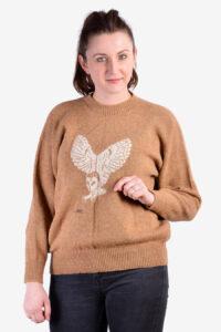 Vintage owl jumper