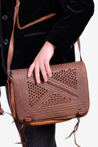 Vintage 1970's tooled shoulder bag