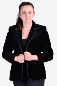 Vintage St Michael black velvet jacket