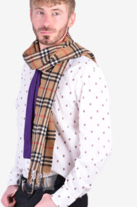 Vintage Burberry lambswool scarf