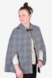 Vintage tweed cape